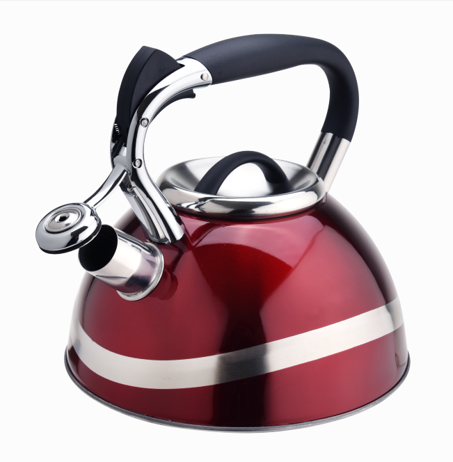 Shiny Metallic Red Tea Pot Kettle 414