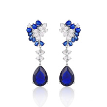 Modeschmuck Blue Stone Elegante Ohrringe