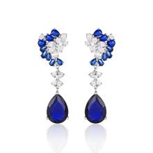 Fashion Jewelry Blue Stone Elegant Drop Earrings