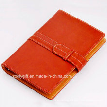 PU Leather 6 Ring Binders Planner Organizer Notebook with Card Slots and Snap Closure
