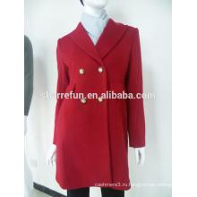 Мода тонкий Fit дамы пальто 100% кашемир ткань