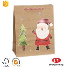 Мешок брайна Kraft бумажный мешок подарка для Рождества