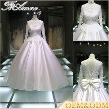 Vestido de noiva de guangzhou Vestido de noiva feito sob encomenda de China Mulheres brancas Senhoras Espartilho Vestido de noiva Vestido de baile