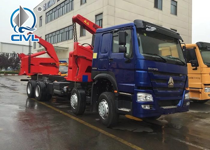 Howo 8x4 20ft Side Lifter