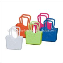 2015 fashion styles PP matériel en plastique panier avec poignées