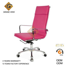 Silla de muebles de oficina de cuero rosa giratoria (GV-OC-H305)