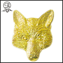 Broche en métal animalier Fox Gold
