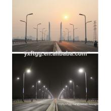 2015 best sales double and single-arm lighting pole,galvanized steel street light pole