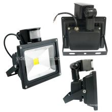 Impermeable IP65 de alta potencia PIR sensor de seguridad al aire libre LED Floodlight