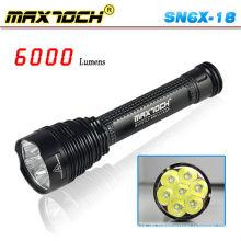 Maxtoch SN6X-18 stärkste Led Taschenlampe