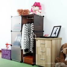 Cabinet d'affichage de bricolage de couleur de Brown, support de chaussure, armoire de cuisine (FH-AL0021-3)