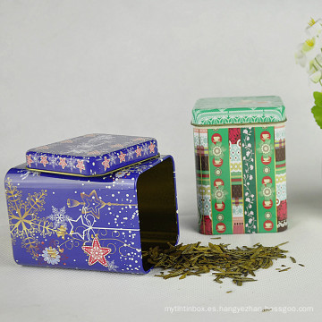 Plaza de té al por mayor de té, lata de estaño promocional, caja de café de estaño