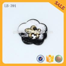 LB391 Habillement décoratif élastique en cuir custom logo jeans pu étiquettes et étiquettes en cuir