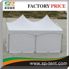 10x20 Pop Up Frame Canopy with white plain sidewalls