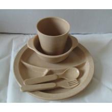 (BC-CS1068) Conjunto de utensílios de mesa de bambu para crianças