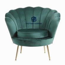 Latest Design Colorful Modern Living Room Furniture Velvet Shell Sofa Chair Armchair
