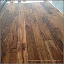Handscraped Kleine Blatt Massiv Acacia Wood Flooring