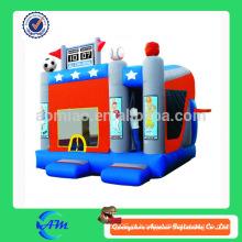 Temas desportivos personalizado inflável bouncy castelo inflável combo