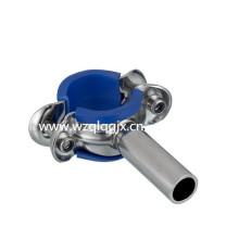 Санитарный круглый держатель трубы с резиновым покрытием