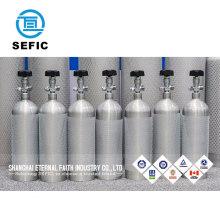 10 Liter 15L 20 Liter beverage drinking co2 aluminum gas cylinder/tank/bottle