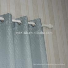 Tecido da cortina de janela do bordado do poliéster da chegada nova