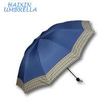 El paraguas colorido barato promocional del control del paraguas del nuevo color liso modificó para requisitos particulares 3 paraguas plegable