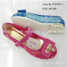 Caliente venta niños princesa zapatos solo zapatos zapatos de danza (ff0724-1)