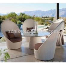 white rattan garden dining table sets +space-saving livingroom dining set