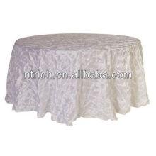 Ausgefallene Windrad eingeklemmter Taft Tischdecken für Hochzeit, Party und Bankett