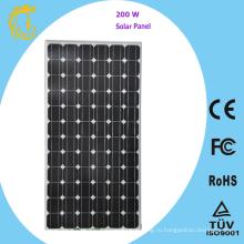 72 ячейки 200 Вт монокристаллического кремния солнечной энергии