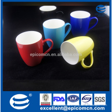 white inside with different single color outside new bone china coffee mug