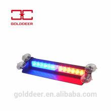 Luzes de Led azul/vermelho luz estroboscópica de emergência 12V impermeável