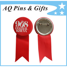 High Quality Customized Unique Tin Button Badge with Ribbon (button badge-48)