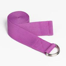 Fitness Equipment D Ring Yoga Cotton Strap Non-Toxic Cotton Iyengar Yoga Stretch Belt