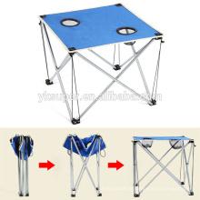 Mesa de piquenha de dobramento de material leve para camping