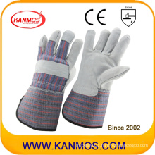 Long Cuff Cow Split Leather Industrial Safety Work Gloves (110071L)
