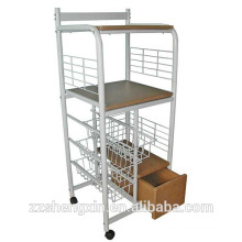Metal Removable Dining Serving Carts with Wheels