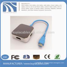 USB3.1 TO HDMI / DVI / VGA / DP + USB3.0 * 2 HUB