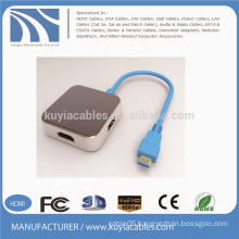 USB3.1 TO HDMI/DVI/VGA/DP+USB3.0*2 HUB