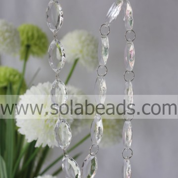 For Festival 8.5*20*40mm  Crystal Beading Garland Chain