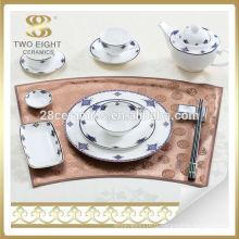Ensemble de vaisselle en porcelaine fine d'Allemagne Ensemble de vaisselle italienne pour hôtel 5 étoiles