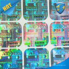 Preiswerter kundenspezifischer Hologramm-Aufkleber, Gedruckter Sicherheit Holographischer Aufkleber