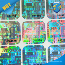 Etiqueta customizada personalizada do holograma 3D, etiqueta holográfica impressa de segurança