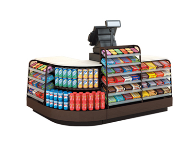 Shelf register counter