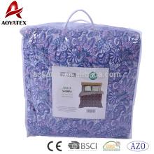 Face 100% Polyester Microber Quilt, hinten Sherpa Stoff mit 120gsm gebundene Füllung