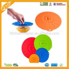 Eco-Friendly preço de fábrica Silicone Amazing Mantendo Fresh Bowl Lid conjunto de 4