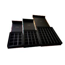 Wholesale Custom Luxury Packaging Black Magnetic Chocolate Box