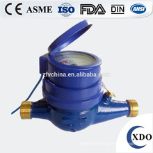Multi Jet Dry Type Vane Wheel Water Meter With Pulse Output