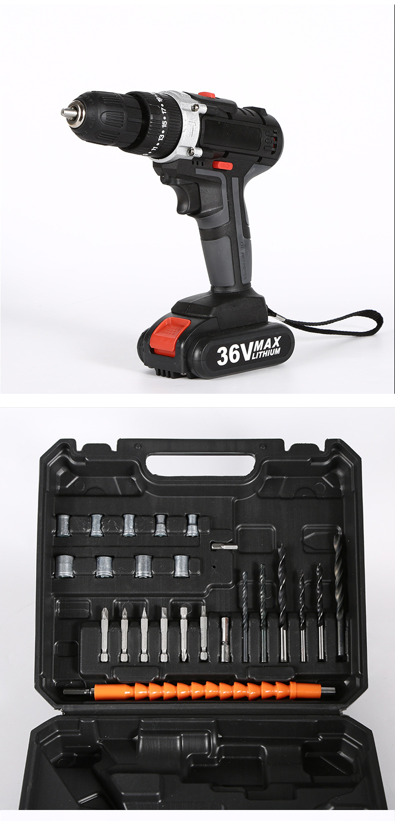 Manufacturers supply multi-function set combination electric drill mini drilling machines electric Lithium drill