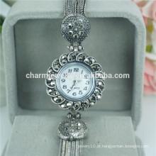 Mais populares vintage moda bela liga relógio de pulso para mulheres b027